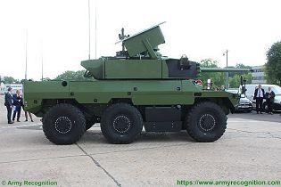 Jaguar EBRC 6x6 Reconnaissance and Combat Armoured Vehicle France French army defense industry right side view 003