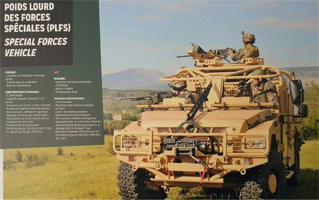 PLFS Poids Lourd Forces Speciales Special Forces vehicle technical data sheet specifications pictures video information description intelligence identification Renault France French army defence industry military technology