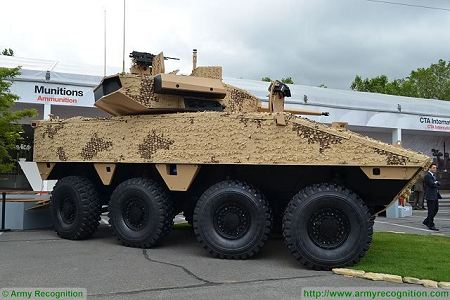 VBCI 2 8x8 wheeled armoured infantry fighting vehicle CTA40 Nexter Systems France French defense industry right side view 001