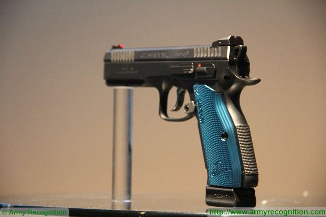Czech firearms manufacturer CZ unveils its new Shadow 2 9x19mm caliber pistol at IWA 2016 640 001