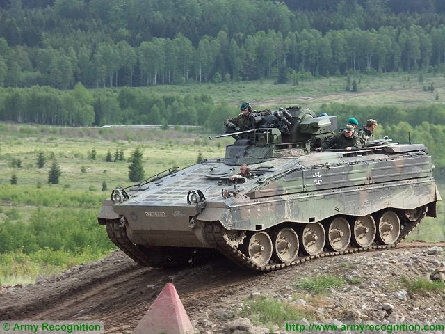 Marder 1A3 tracked armoured Infantry Fighting Vehicle Germany German army military equipment defense industry 640 001