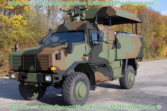 Dingo 2 GSI armoured battle damage repair vehicle data sheet description information specifications intelligence pictures photos images German army Germany Krauss-Maffei Wegmann all-protected military