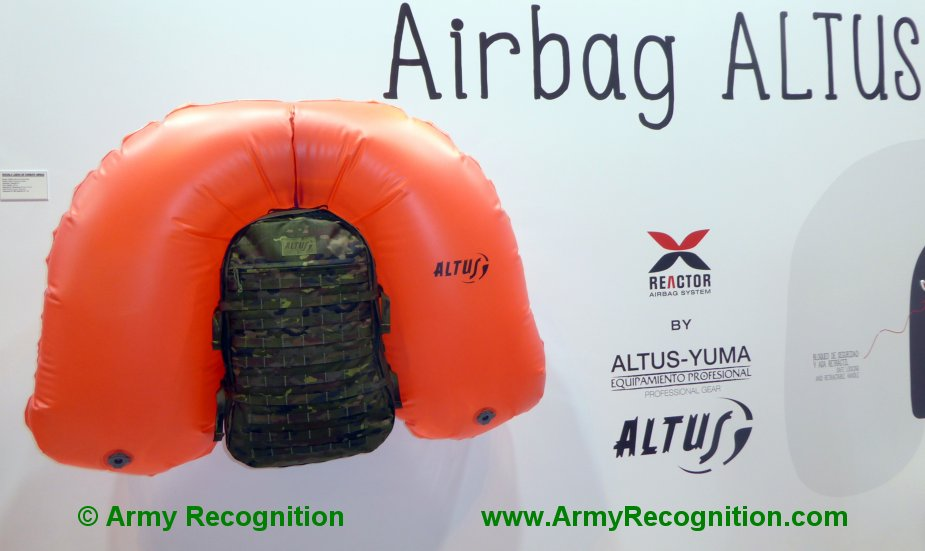 FEINDEF 2019 Altus showcases special backpacks for females and avalanche survivability 1