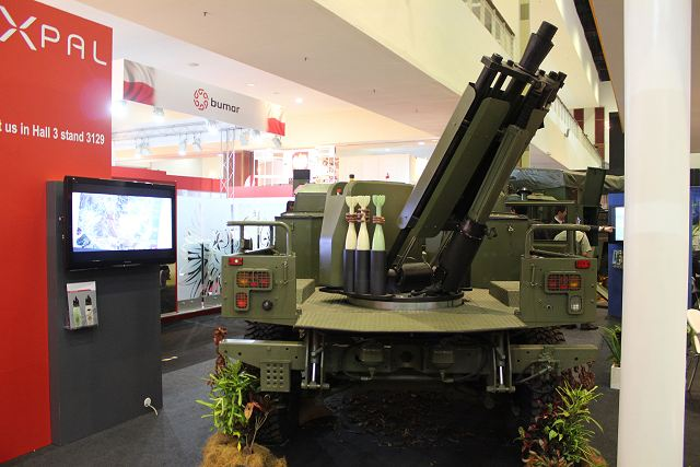 81mm Mortar System : Eimos expal integrated mortar system for light wheeled