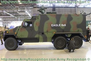 Eagle 6x6 light armoured vehicle personnel carrier data sheet specifications description information intelligence identification pictures photos images Switzerland Swiss Army defence industry military technology