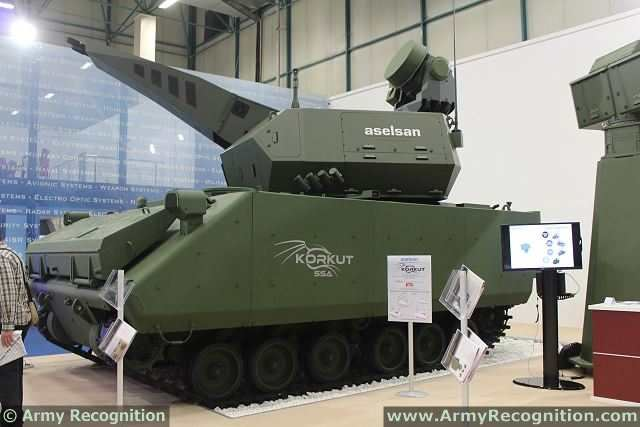 Korkut 35mm cannon short range air defense system tracked armored Turkey Turkish army defense industry 640 001