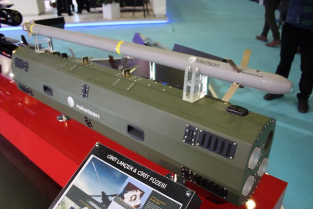 Roketsan displays its Laser Guided General Purpose Missile so called CIRIT at High Tech Port 2016 002