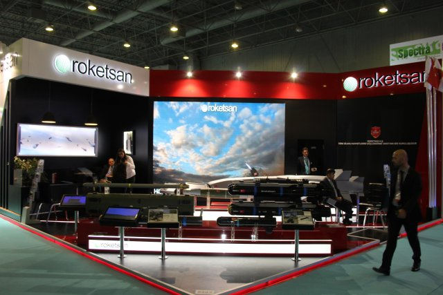 Roketsan is showcasing its Stand-Off Missile SOM at High Tech Port 2016 in Istanbul 001