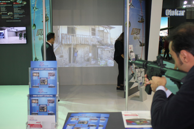 The Havelsans ITEX Firearms simulator on display at High Tech Port 2016 640 001