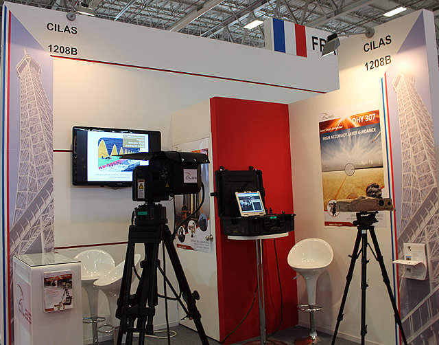 At IDEF-2013 defense exhibition held in Istanbul from May 7-10, CILAS (booth 1208 B in hall 12) is showing its ground laser target designator: the DHY 307. Laser target designation is one of CILAS' specialties. Its laser target designator has been successfully proven for guiding any type of laser-guided weapons such as bombs, missiles and artillery shells (NATO, Russian & Chinese ones).