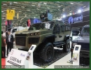 The Turkish Company Nurol Makina has unveiled today at IDEF 2013, the International Defence Exhibition its new Ejder 4x4 armoured combat vehicle. Nurol Makina ve Sanayi A.S. / Makina Isletmesi was founded in 1976 to construct turnkey industrial plants and to undertake large scale steel construction and machinery fabrication projects