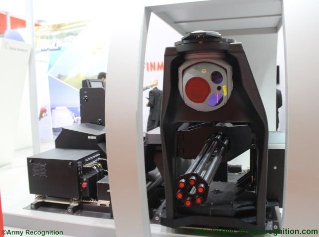 IDEF 2015 Oto Melara showcases for the first time its 20 mm Gunship air to ground gun system 640 002