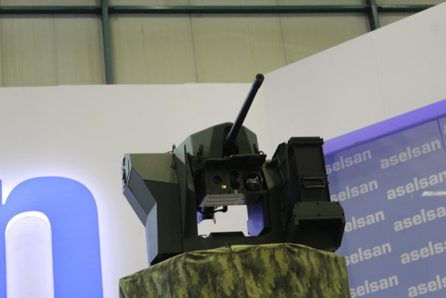 At IDEF 2015 aselsan showcases the SARP Stabilized Advanced Remote Weapon Platform 640 001