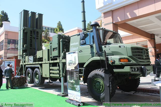 HISAR short medium-range air defense missile system aselsan IDEF 2015 defense exhibition Istanbul Turkey 001