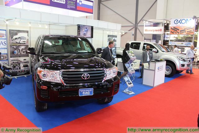 IAG civilian armoured vehicles protect occupants against ballistic and mine threats IDEF 2015 defense exhibition Turkey 001