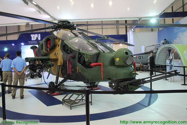 T129 attack combat helicopter TAI Turkish Aerospace Industries IDEF 2015 International defense industry fair Turkey 001