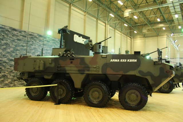 This year at IDEF Otokar is exhibiting its ARMA 8x8 CBRN Reconnaissance Vehicle 640 001