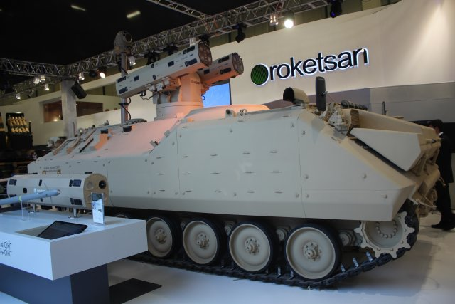 Turkish company Roketsan presents its Pedestal Mounted CIRIT for weapon of the same name 640 001