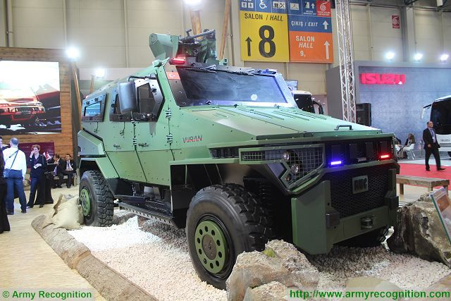 Vuran 4x4 MPAV Multi-Purpose Armoured Vehicle BMC IDEF 2015 defense exhibition Istanbul Turkey 001