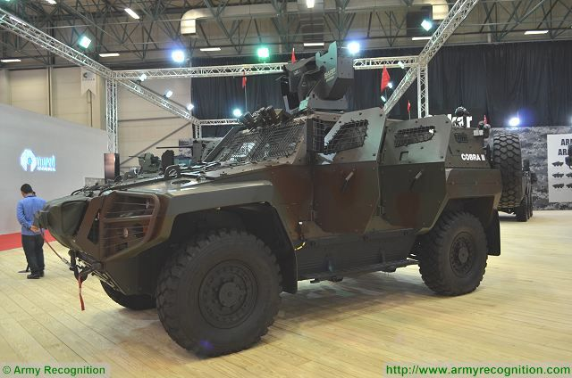 Cobra II 4x4 APC with SARP turret at IDEF 2017, International Defense Exhibition in Istanbul, Turkey