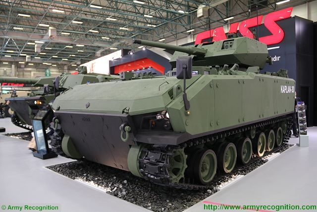 At IDEF 2017, the Turkish Company FNSS launches the Kaplan 30, a Next Generation (NG) and advanced Armoured Fighting Vehicle (AFV). This vehicle was especially designed to move together with main battle tanks. The KAPLAN 30 NG-AFV platform design and up to date integrated subsystems enables all kinds of missions.