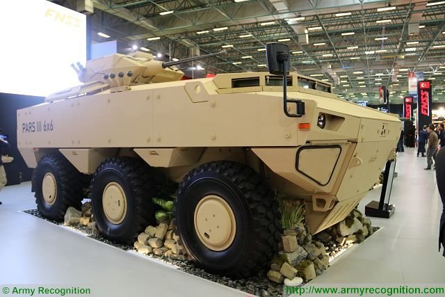At IDEF 2017, the International Defense Exhibition in Turkey, the Turkish Defense Company FNSS presents new generation of wheeled armoured vehicle PARS III in 6x6 and 8x8 configuration. The new PARS III will soon be used by an armed forces of the Middle East.