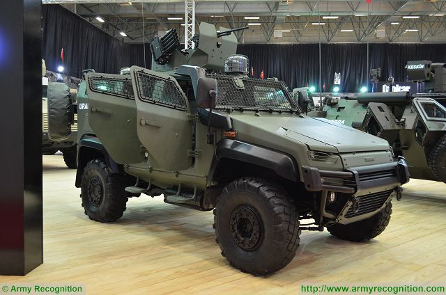 URAL ISV Internal Security Vehicle at IDEF 2017, International Defense Exhibition in Istanbul, Turkey