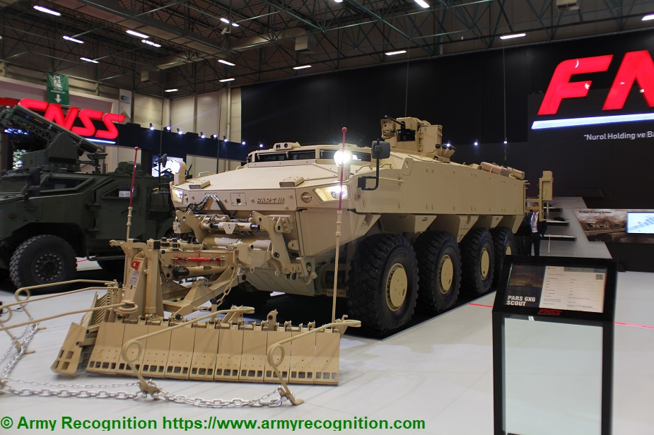 Idef 2019 Fnss Exhibits The Pars Iii 8x8 Engineering