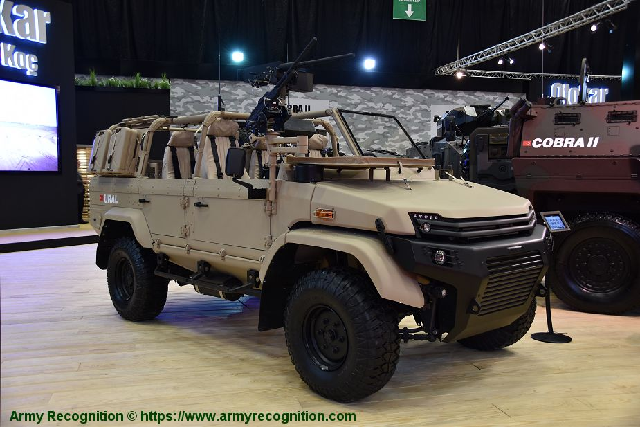 New OTOKAR Ural SOV 4x4 Special Operations Vehicle IDEF 2019 defense exhibition Turkey 925 001