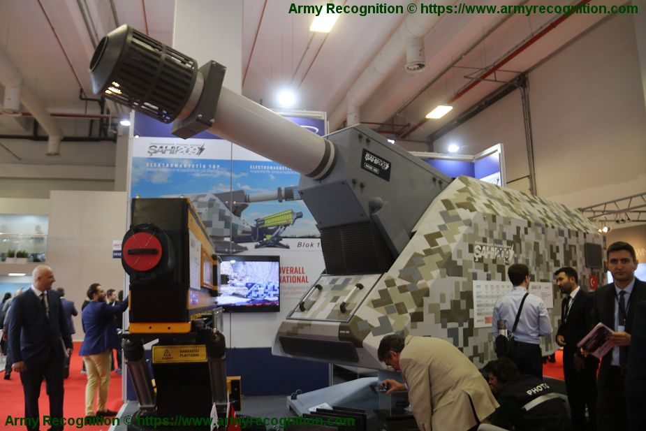 Turkish made Electromagnetic Rail Gun unveiled by Yeteknoloji IDEF 2019 Istanbul Turkey 925 001