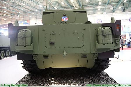 Kaplan MT Medium Tank FNSS PT Pindad Indonesia Indonesian army Turley defense industry rear view 001