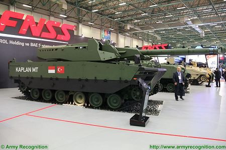 Kaplan MT Medium Tank FNSS PT Pindad Indonesia Indonesian army Turley defense industry right side view 001