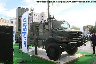 HISAR O medium range air defense missile system Turkey Turkish front view 001