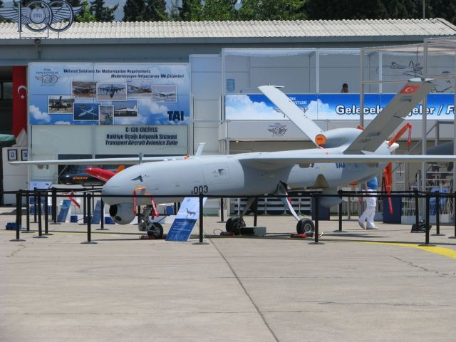 Anka TAI MALE Medium Altitude Long Endurance UAV Unmanned Aerial Vehicle Turkey Turkish 640 001
