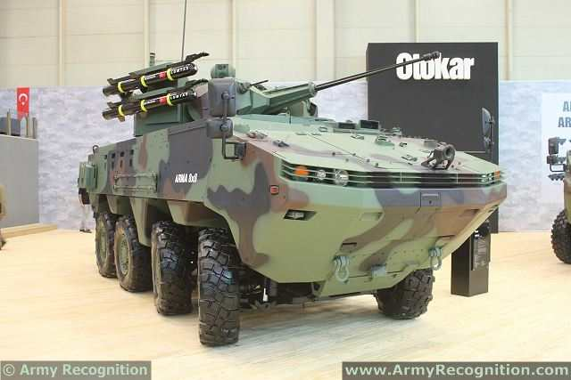 Arma 8x8 wheeled armoured vehicle personnel carrier Otokar Turkey Turkish Defence Industry Military Technology 015
