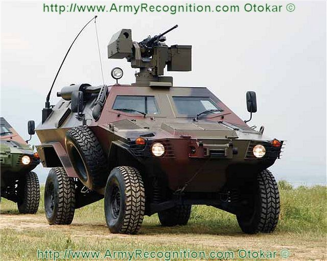 Cobra Otokar 4x4 armoured personnel carrier vehicle data sheet specifications description information intelligence identification pictures photos images Turkey Turkish army mine resistant ambush protected vehicle defence industry military technology