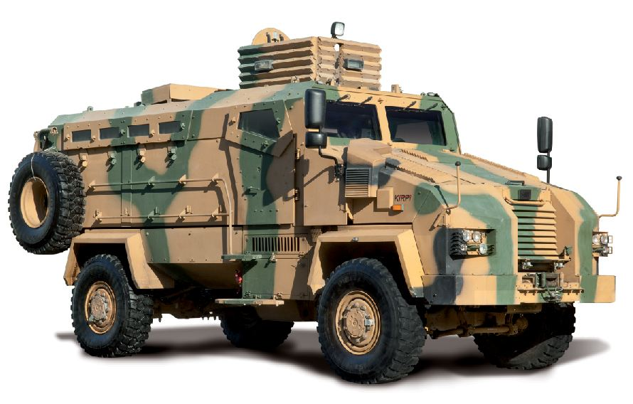 BMC has also entered armoured vehicle market a few years ago and since then has produced prototypes of several MRAPs and APCs. Being awarded the contract for the design, development and production of around 470 MRAPs for Turkish Land Forces Command, BMC has proceeded to serial production phase for MRAPs, named BMC KIRPI (4x4) MRAP. This vehicle has successfully passed severe tests in accordance with NATO standards. With its high ballistic protection, tactical capabilities and seating capacity, BMC KIRPI (4x4) MRAP has already become an important player in the MRAP market.