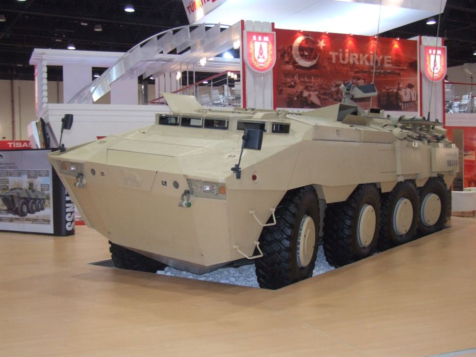 PARS 8x8 FNSS wheeled armored combat vehicle Turkish Turkey defence industry military technology 001
