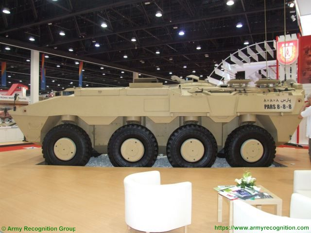 PARS 8x8 FNSS wheeled armored combat vehicle Turkish Turkey defence industry military technology left side view