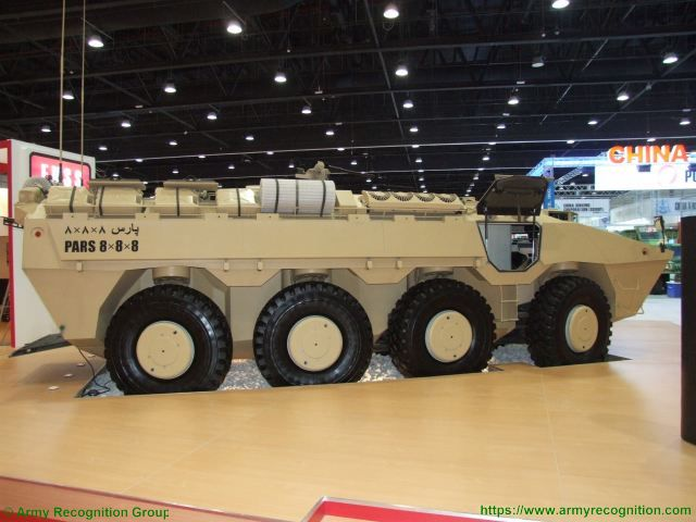 PARS 8x8 FNSS wheeled armored combat vehicle Turkish Turkey defence industry military technology right side view