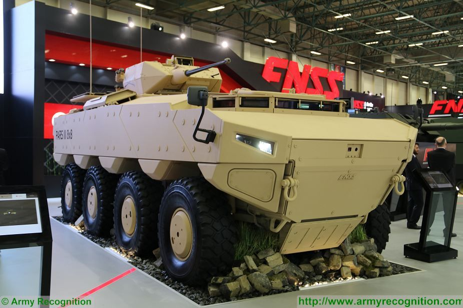 PARS III 8x8 wheeled armoured combat vehicle FNSS Turkey Turkish army defense industry 925 001