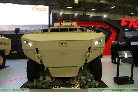 PARS III 8x8 wheeled armoured combat vehicle FNSS Turkey Turkish army defense industry front view 001
