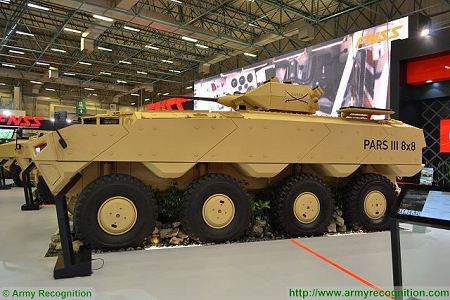 PARS III 8x8 wheeled armoured combat vehicle FNSS Turkey Turkish army defense industry left side view 001
