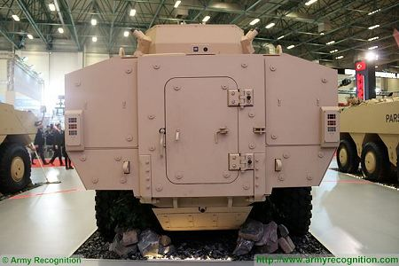 PARS III 8x8 wheeled armoured combat vehicle FNSS Turkey Turkish army defense industry rear view 001