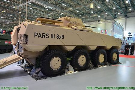 PARS III 8x8 wheeled armoured combat vehicle FNSS Turkey Turkish army defense industry right side view 001