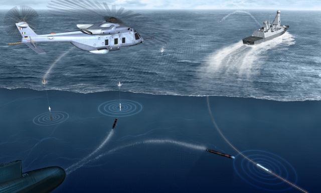 At DSEI 2011, Ultra Electronics presents the Sea Sentor a compact, modular and self-contained system that integrates advanced TDCL (Torpedo Detection, Classification & Localisation) techniques with a suite of soft-kill countermeasures (comprising both off-board expendable devices and towed decoy).