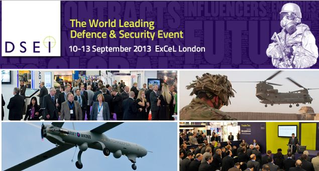 DSEI 2013 pictures photos images video International Defence Security Equipment Exhibition London United Kingdom Salon International des équipements et systèmes de défense Londres Royaume Uni