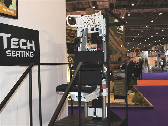 Jankel has unveiled latest BLASTech Seat development at DSEI 2015 defense exhibition in UK 640 001