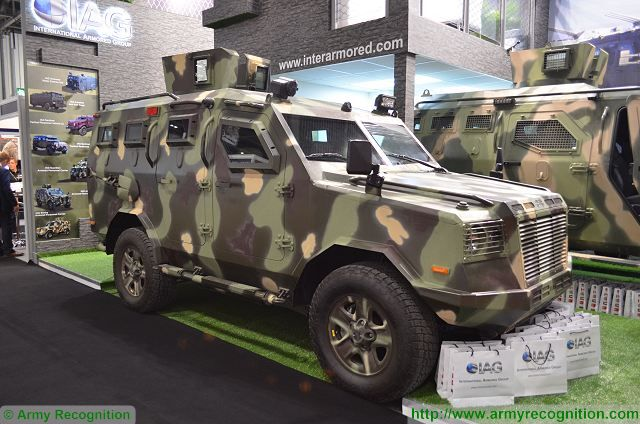 Jaws IAG International Armored Group 4x4 APC DSEI 2015 defense exhibition London United Kingdom 640 001