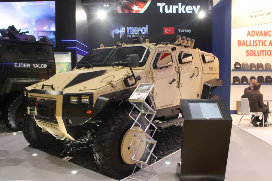 DSEI 2017 Nurol Makina showcases the NMS and the Ejder Yalcin 4x4 armored vehicles 925 001